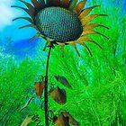 Metal Sunflower Art Sculpture  by Michael Moriarty
