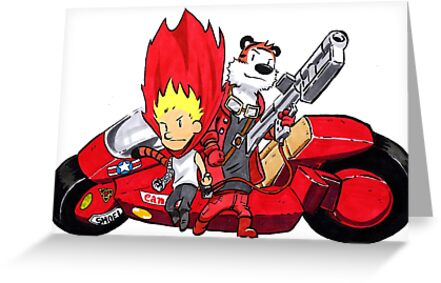 Calvin and Hobbes Akira Anime by Sketchbooks