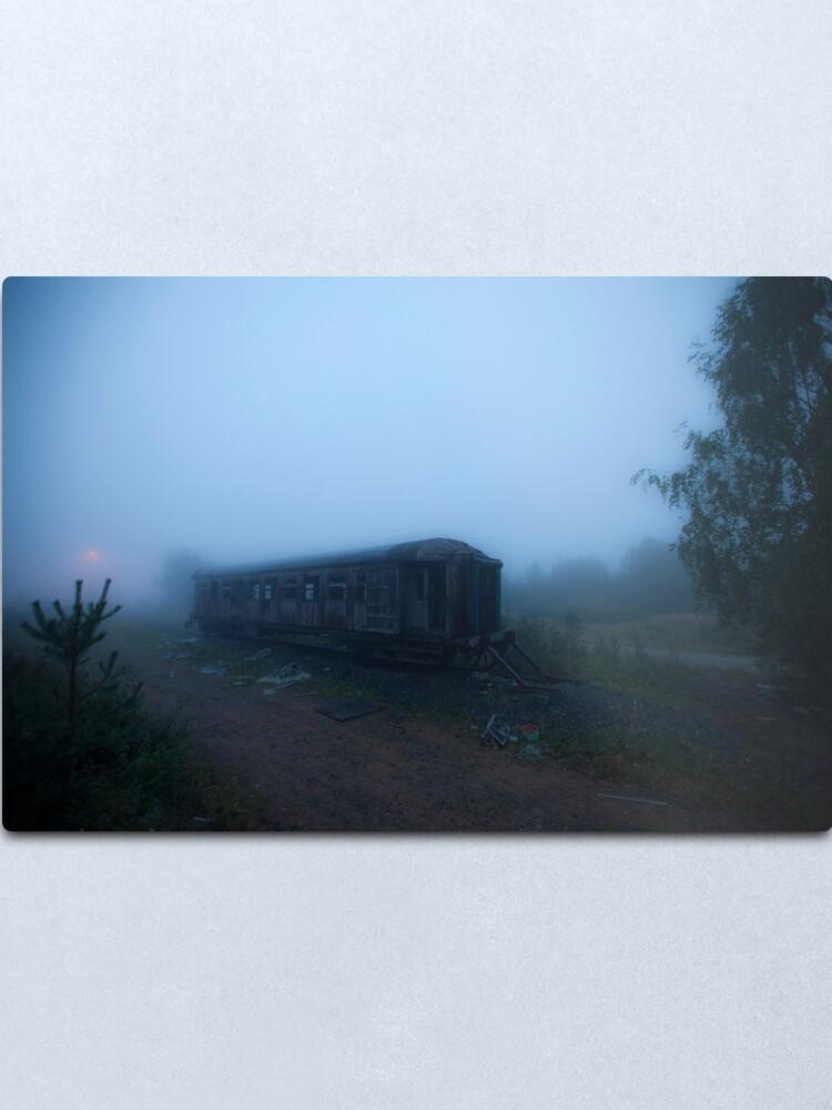 Alternate view of Ghost Train Metal Print