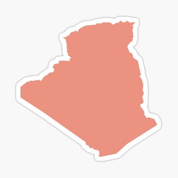 Algeria Love in Peach Sticker