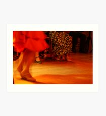 red flamenco dress Art Print