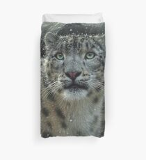 "Snow Leopard ""Fortress"" Duvet Cover"