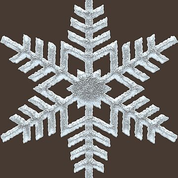 Frozen Snowflake Rich Brown Woodland Nature Christmas by 26-Characters