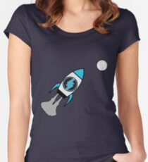 Electroneum. TO THE MOON! Women's Fitted Scoop T-Shirt