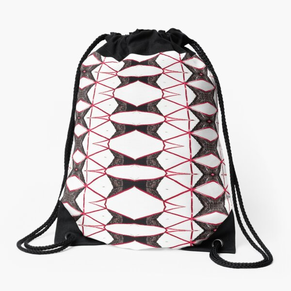 garniture, symmetry, reiteration, repetition, repeat,   recurrence, iteration, relapse Drawstring Bag
