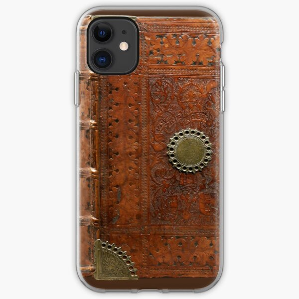 Ancient leather & brass book cover, Nuremberg 1477 iPhone Soft Case