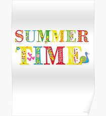 summer time (happy type) Poster