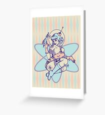 Space Babe Greeting Card