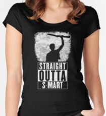 Straight Outta S-Mart Women's Fitted Scoop T-Shirt