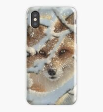 "Red Fox ""Hide and Seek"" iPhone Case/Skin"