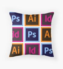 Adobe Creative Cloud Pattern  Throw Pillow
