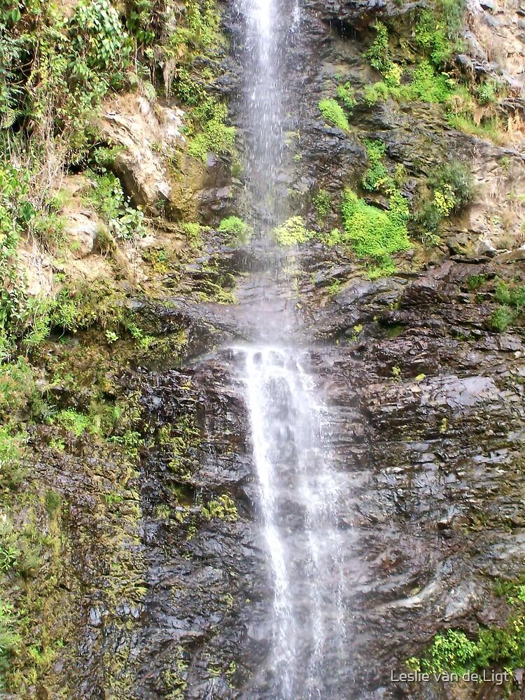 Oh so High Waterfall ! by Leslie van de Ligt