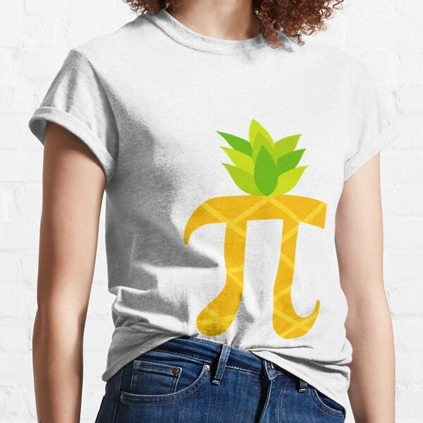 Funny Pi-neapple Pi Day 2018 Colorful Sign Humor Gift Classic T-Shirt