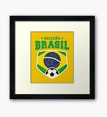 2018 Selecao Brasil Football Brazil World Soccer Flag Framed Print