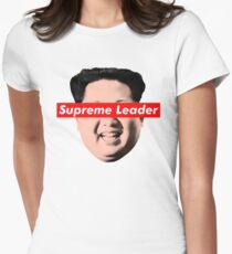Supreme Leader Un - Kim Jong Un Parody T-Shirt Women's Fitted T-Shirt
