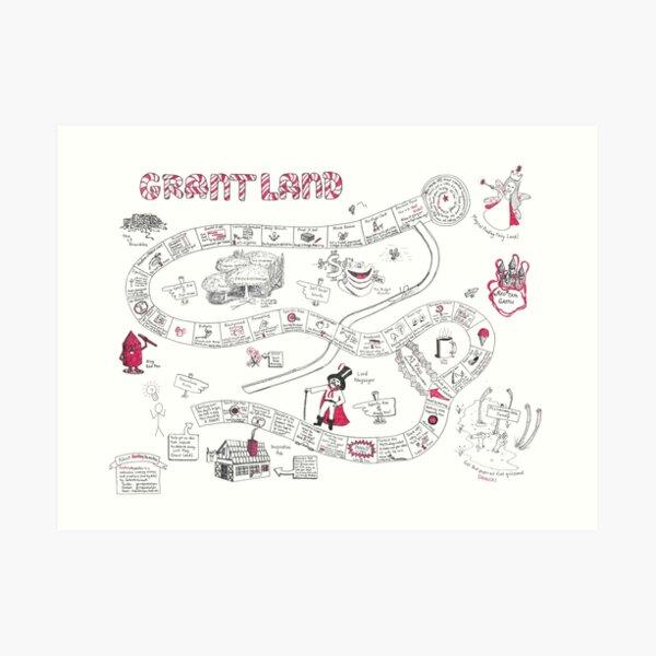 GrantLand : Writing a Proposal Never Tasted So Sweet Art Print
