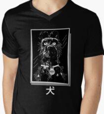 pro dog picture framed Men's V-Neck T-Shirt