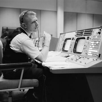Eugene Kranz at Mission Control by flashman