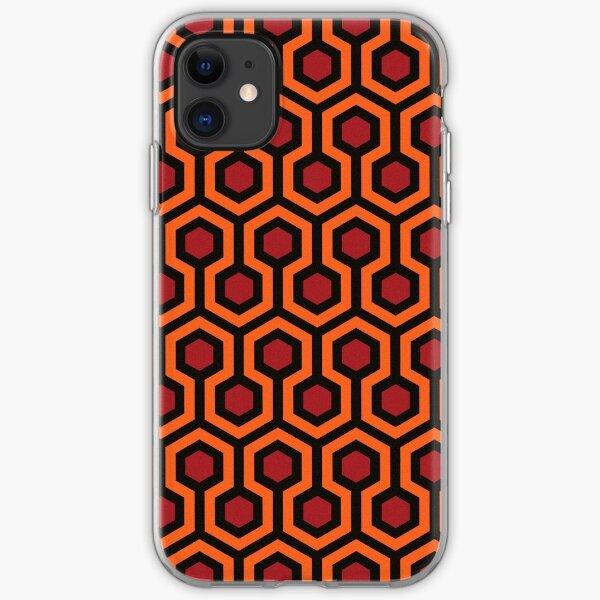 Hola, Res: el patrón de alfombra brillante de la habitación del hotel 237 Funda blanda para iPhone