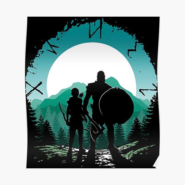 Kratos e hijo Póster