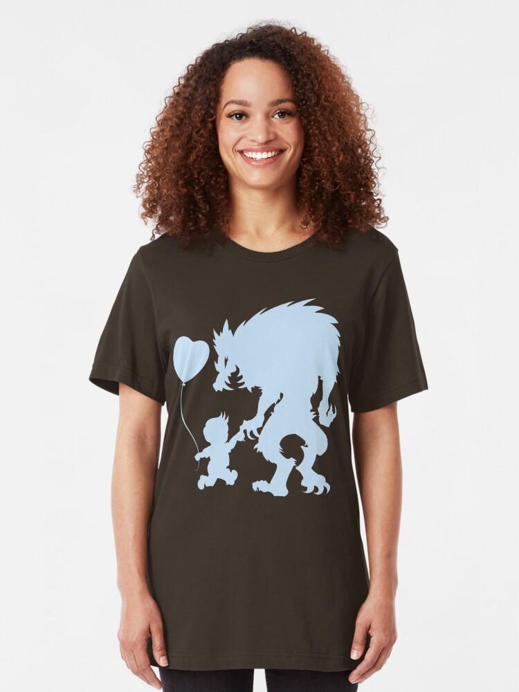 Alternate view of BFF's (dark garment version) Slim Fit T-Shirt
