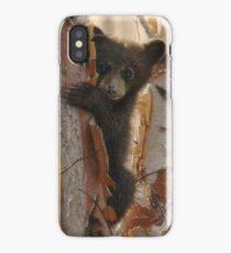 "Black Bear Cub ""Curious Cub 2"" iPhone Case/Skin"