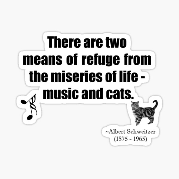 Music and Cats Quotation  Sticker