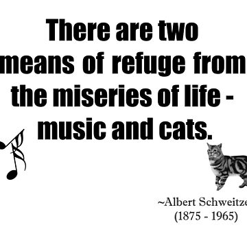 Music and Cats Quotation  by simpsonvisuals