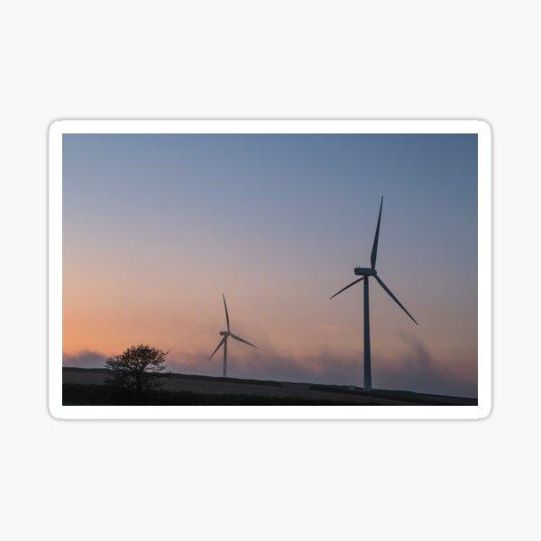 Wind Turbines on a Spring evening Sticker