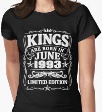 Kings are born in june 1993 Women's Fitted T-Shirt
