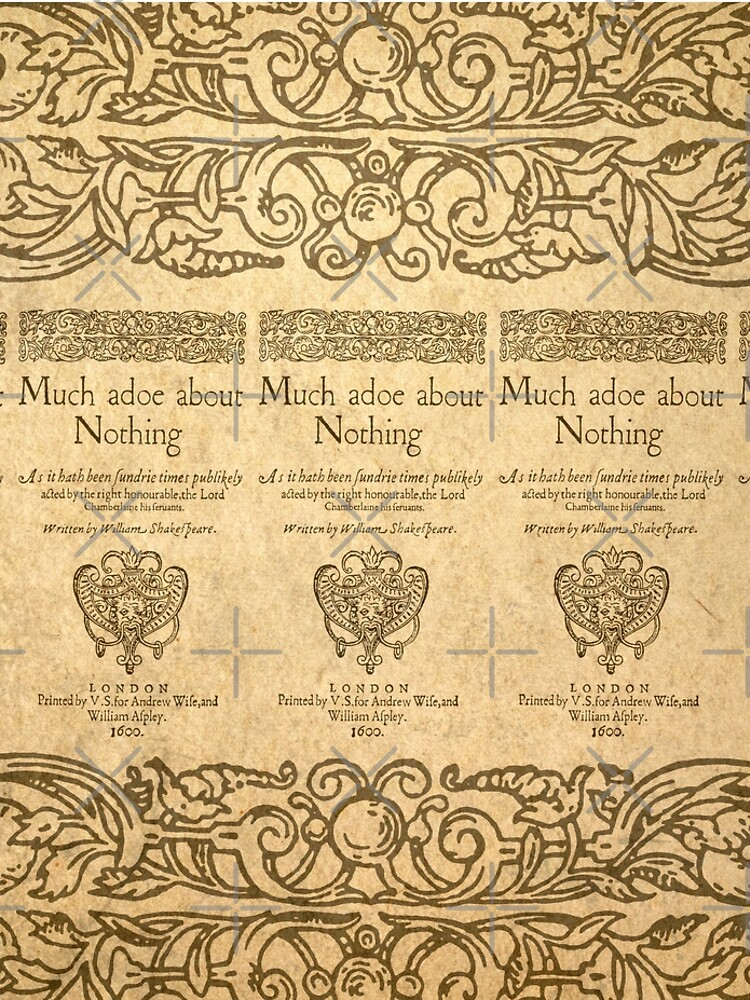 Shakespeare. Much adoe about nothing, 1600 de bibliotee
