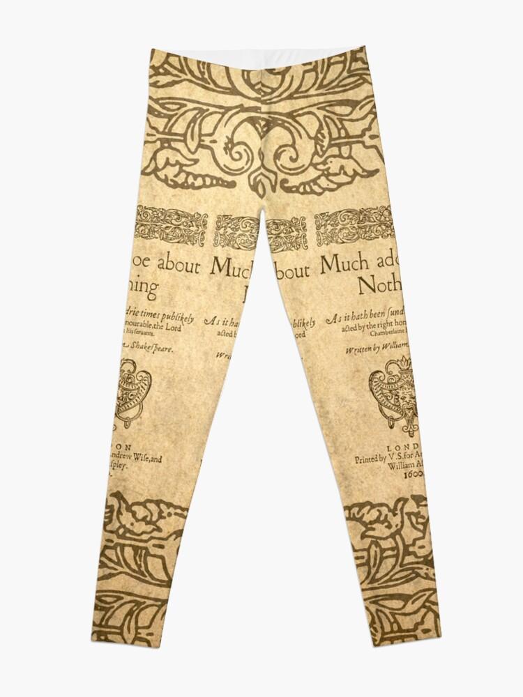 Vista alternativa de Leggings Shakespeare. Much adoe about nothing, 1600