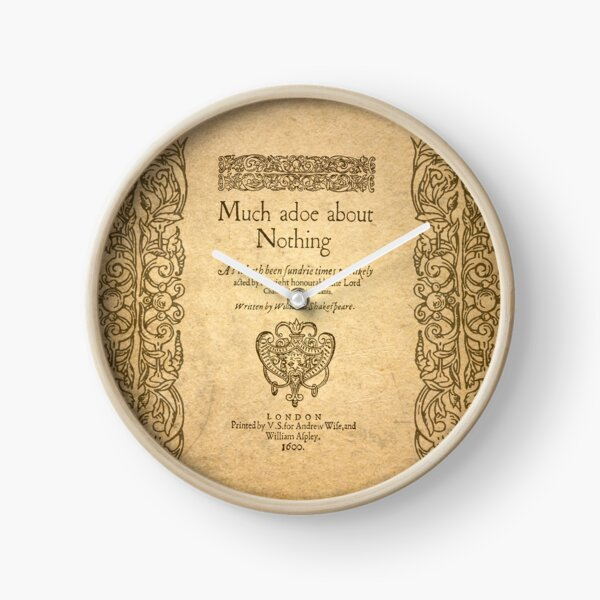 Shakespeare. Much adoe about nothing, 1600 Reloj