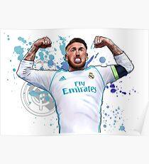 Sergio Ramos - Real Madrid Poster