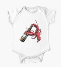 Beer Drinking Lobster Funny Craft Beer T-Shirt One Piece - Short Sleeve