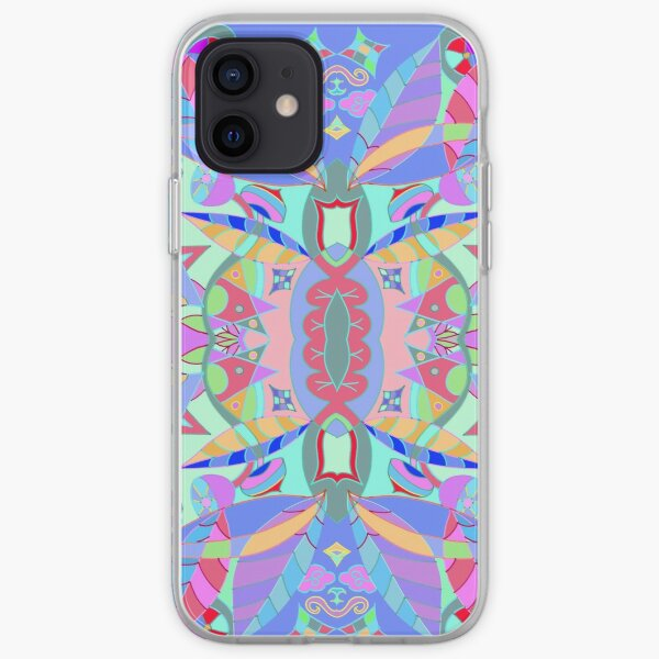 The earth song of leaves -blue iPhone Soft Case