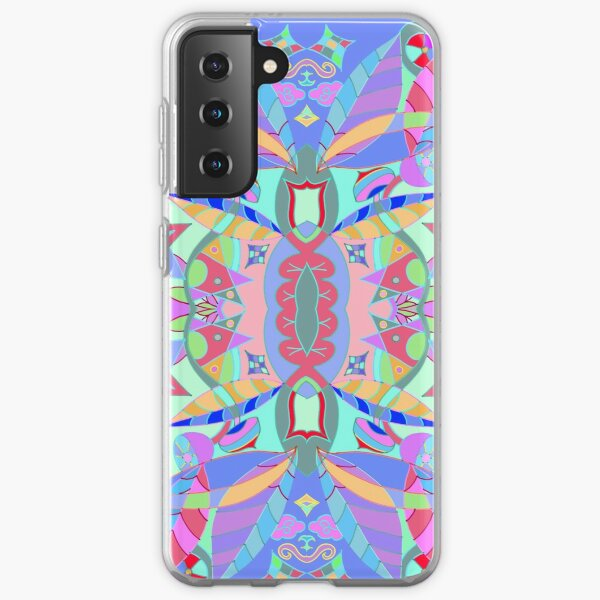 The earth song of leaves -blue Samsung Galaxy Soft Case