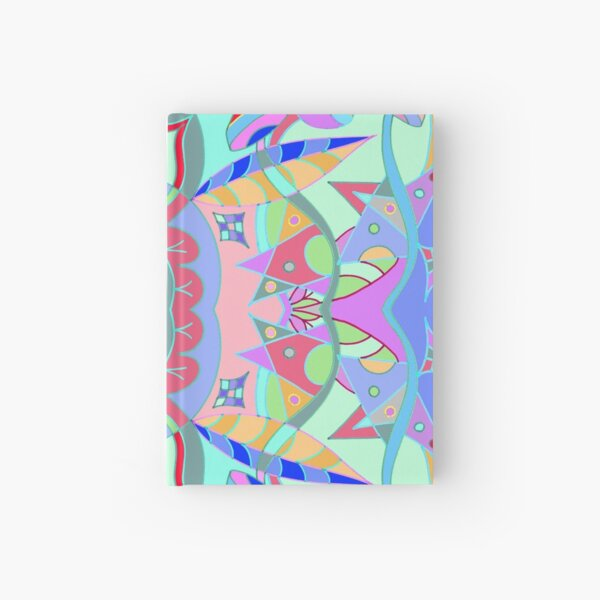 The earth song of leaves -blue Hardcover Journal
