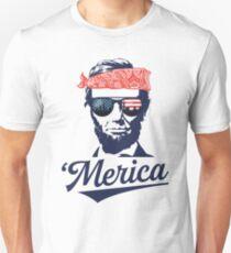 Camiseta ajustada Abraham Lincoln 'Merica Funny el 4 de julio