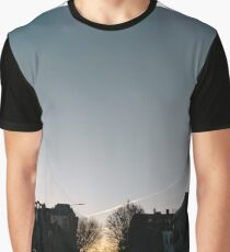 Building, Skyscraper, New York, Manhattan, Street, Pedestrians, Cars, Towers, morning Graphic T-Shirt