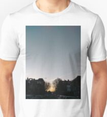 Building, Skyscraper, New York, Manhattan, Street, Pedestrians, Cars, Towers, morning Unisex T-Shirt