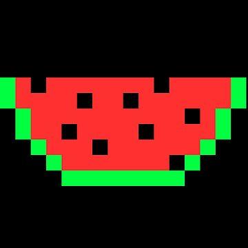 Melon pixel food gift idea by Er1k99