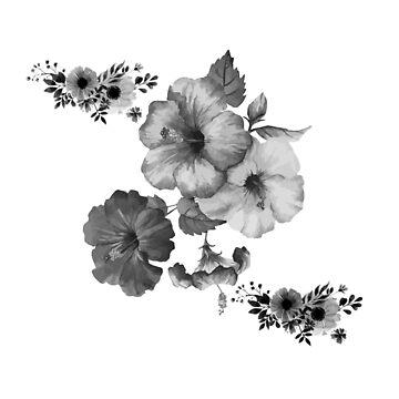 Mono Flower B by Rosh