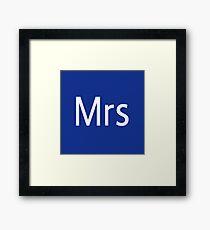 Mrs Adobe Photoshop Themed Framed Print