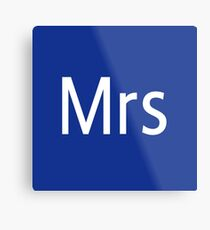 Mrs Adobe Photoshop Themed Metal Print