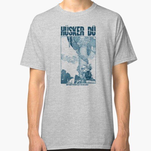 ✅  Hüsker Dü - Logo Big - Grant Hart - Navy Blue Classic T-Shirt