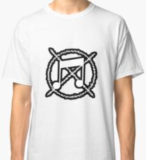 Noise Not Music White Outlined Classic T-Shirt