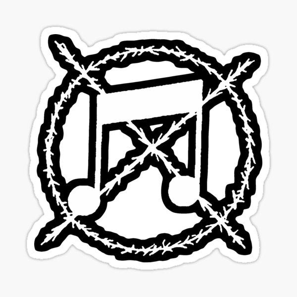 Noise Not Music White Outlined Sticker