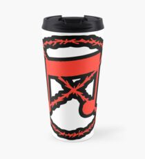 Noise Not Music Red Outlined Travel Mug