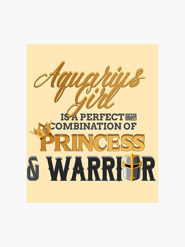 AQUARIUS Girl Princess Warrior Horoscope Birthday | Photographic Print